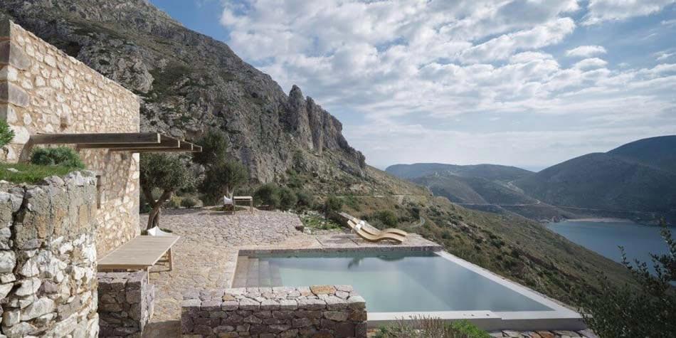 Elegant Terrasse Belle Vue Chambre Du0027hôte Antique Luxe Grèce