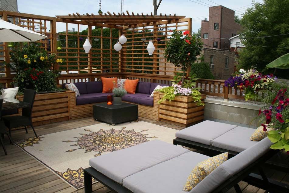 Fabuleux Amenager Terrasse D Appartement. Dcoration Terrasse Avec Plante  IO97