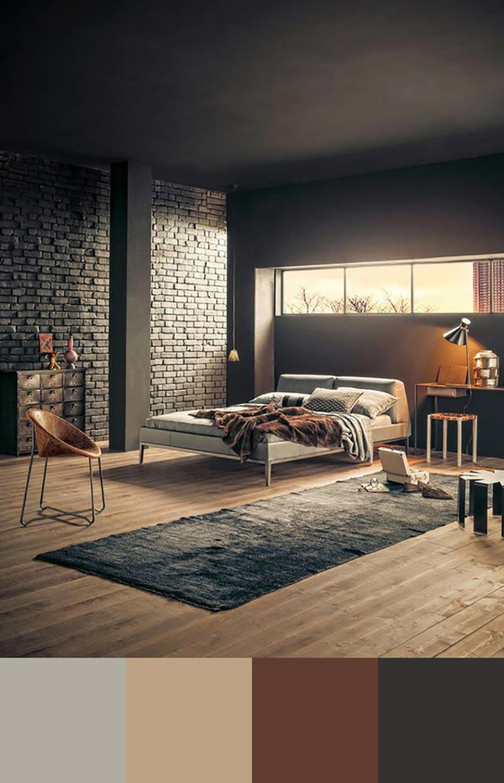 tendance couleur chambre moderne et sobre - Couleur De Chambre A Coucher Moderne