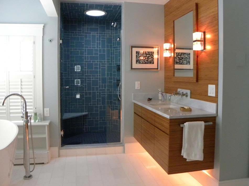 Carrelage design l inspiration g om trique pour la salle - Carrelage de salle de bain tendance ...