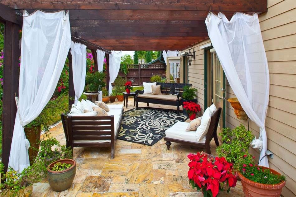 am nagement terrasse de styles et inspirations diff rents. Black Bedroom Furniture Sets. Home Design Ideas