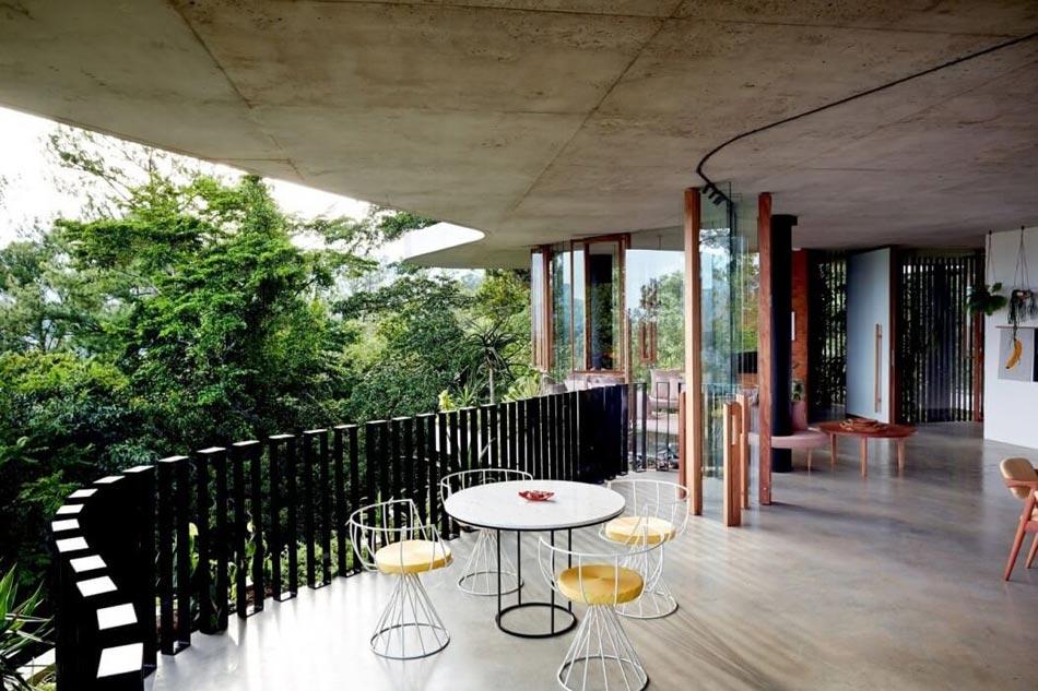 Maison originale passive l inspiration cologique au for Maison moderne foret