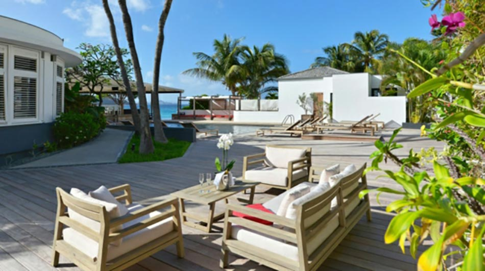 outdoor privée villa à louer saint barth