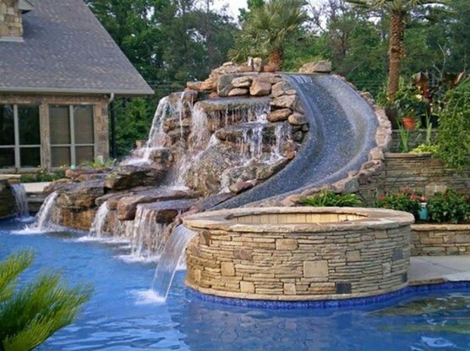 Back Yard Water Slide with Pool