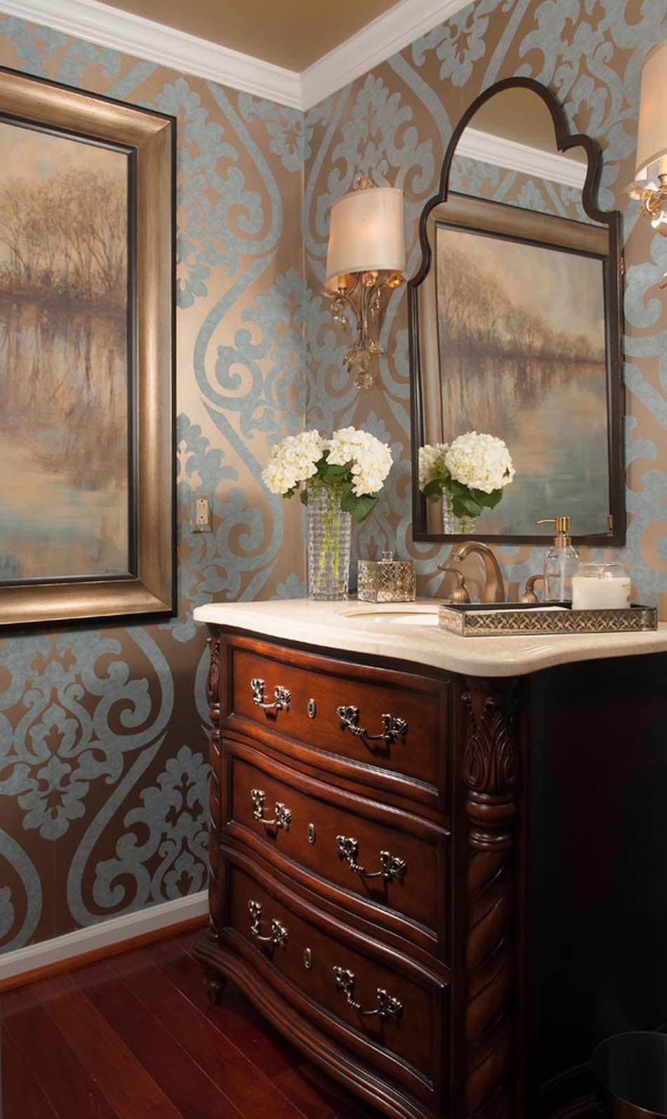 Id es de d coration inspirantes pour rendre nos toilettes surprenantes design feria - Idee deco wallpaper volwassene kamer ...