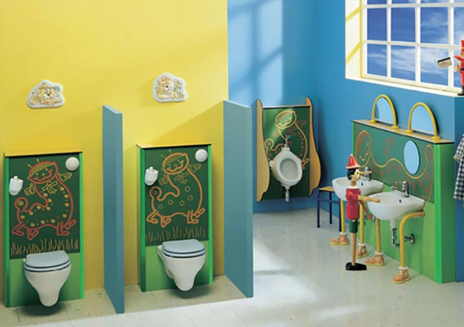 Decoracion Baño Jardin Infantil:Cute Kids Bathroom Idea