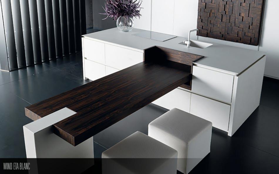 Originalité De La Conception Par Toncelli. Cuisine Placards Modernes Blancs  Luxe Artisanale Design. Cuisine Design Moderne ...