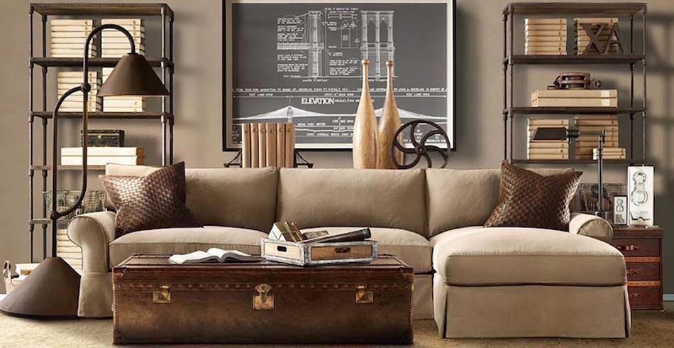 Un int rieur de maison la tendance r tro dans l esprit for Objet deco salon moderne