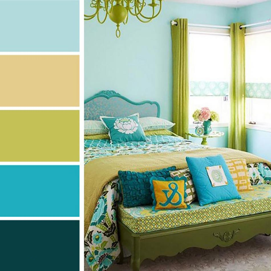 Palettes de couleurs afin de choisir les bonnes nuances for Quelle couleur avec du bleu turquoise