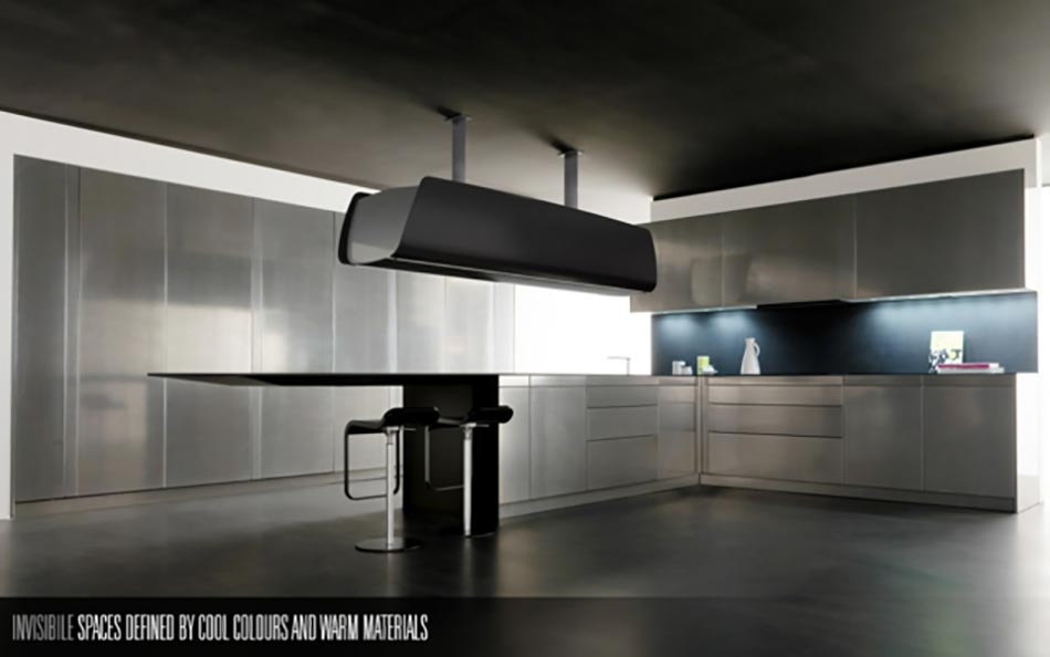 Toncelli ou la cuisine design artisanale italienne design feria - Cuisine ultra design ...