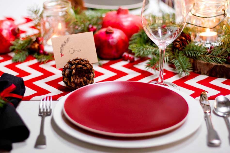 D co vaisselle originale dans l esprit no l pour dresser une accueillante tab - Pinterest table de noel ...