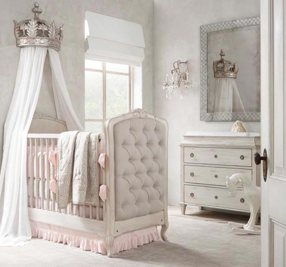 D co chambre b b le voilage et le ciel de lit magiques design feria - Deco babybed ...