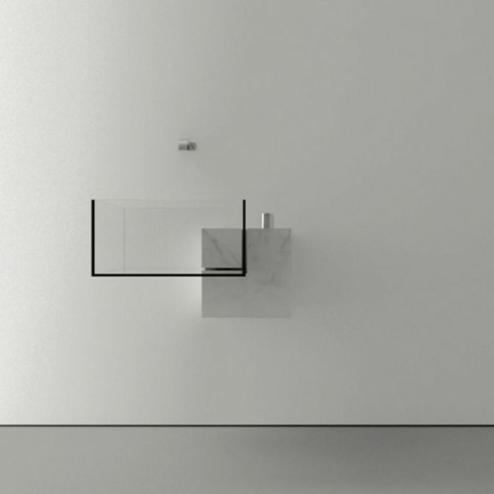 ameublement salle de bain vasque transparente