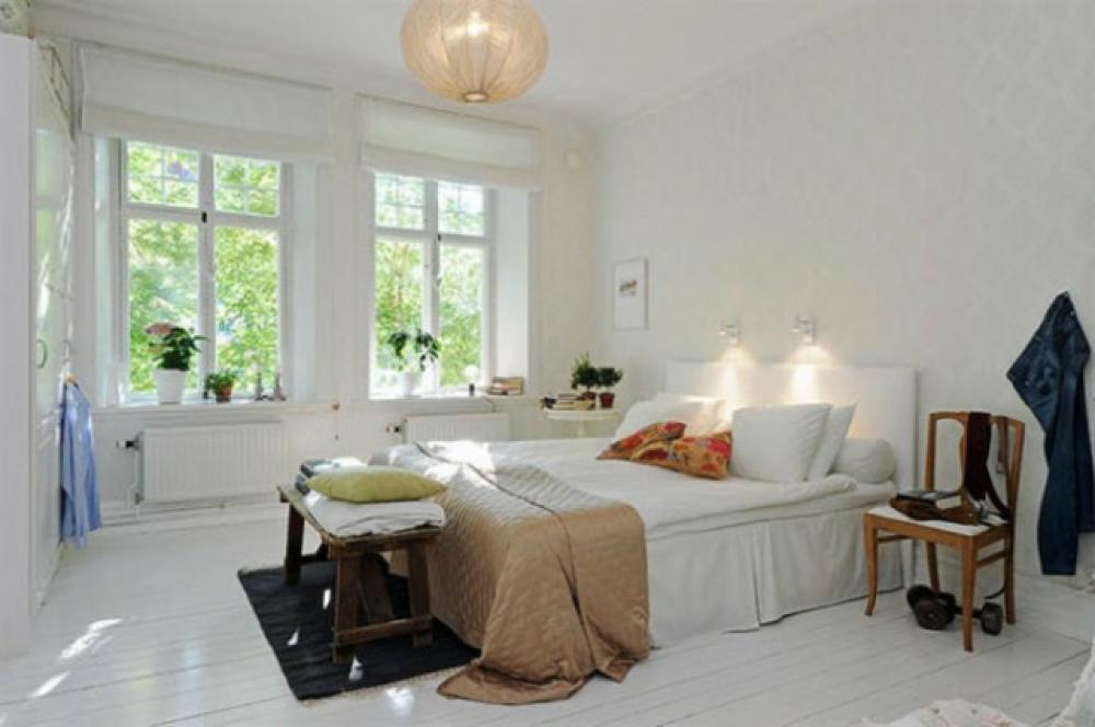 Chambre à coucher à linspiration nordique