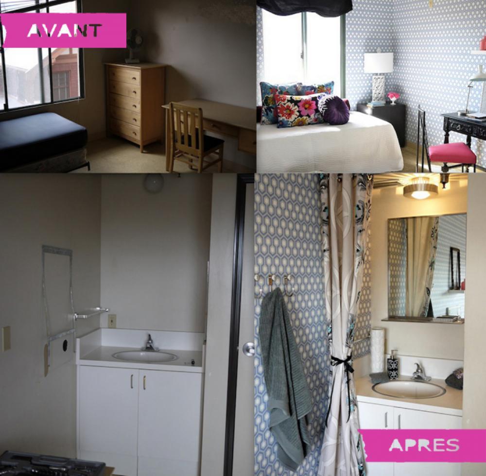 transformation complète de chambre au foyer