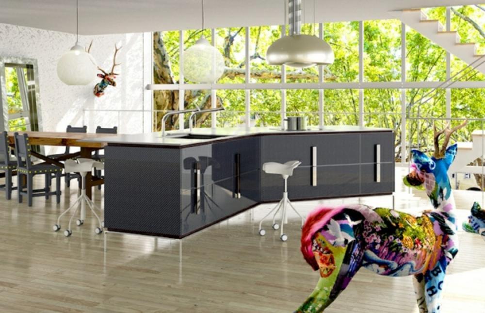 cuisine design en gris toyo