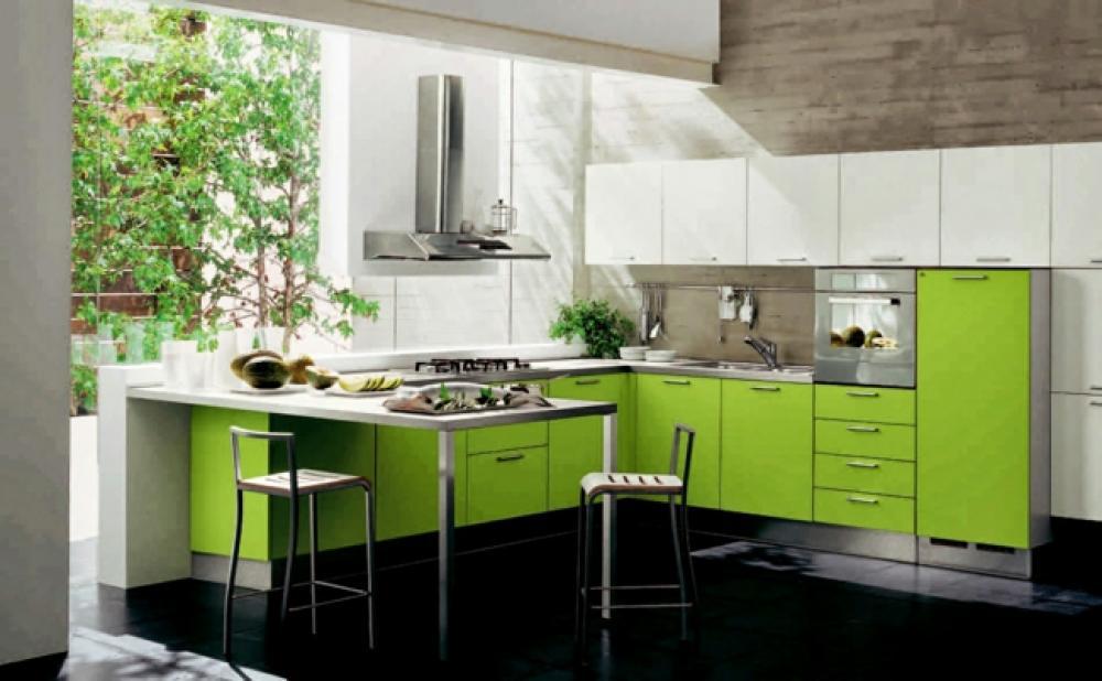 jolie cuisine design vert