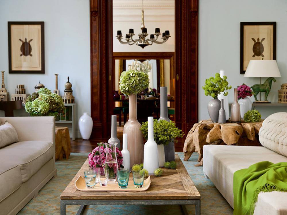 ... Déco Maison De Toute Fraicheur. Arrangement Florale Magnifique Pour  Séjour Joyeux