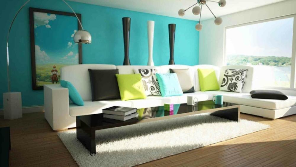 Parfait Deco Maison Ou Séjour En Vert Turquoise