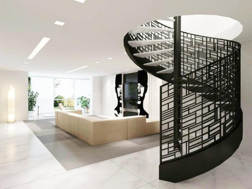 Escalier design en colimaçon moderne