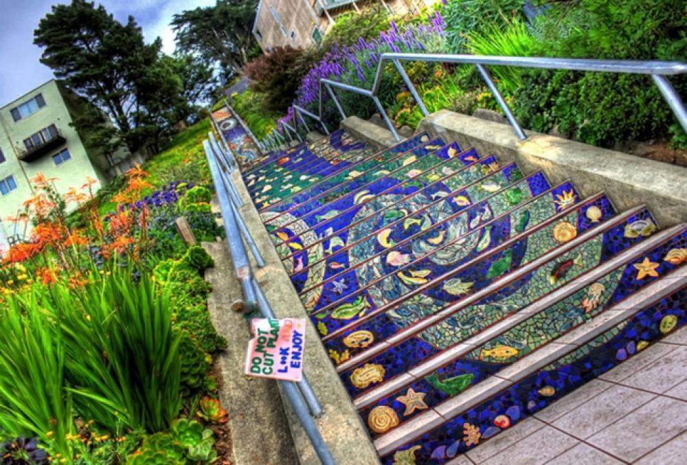 Escalier street art à San Francisco