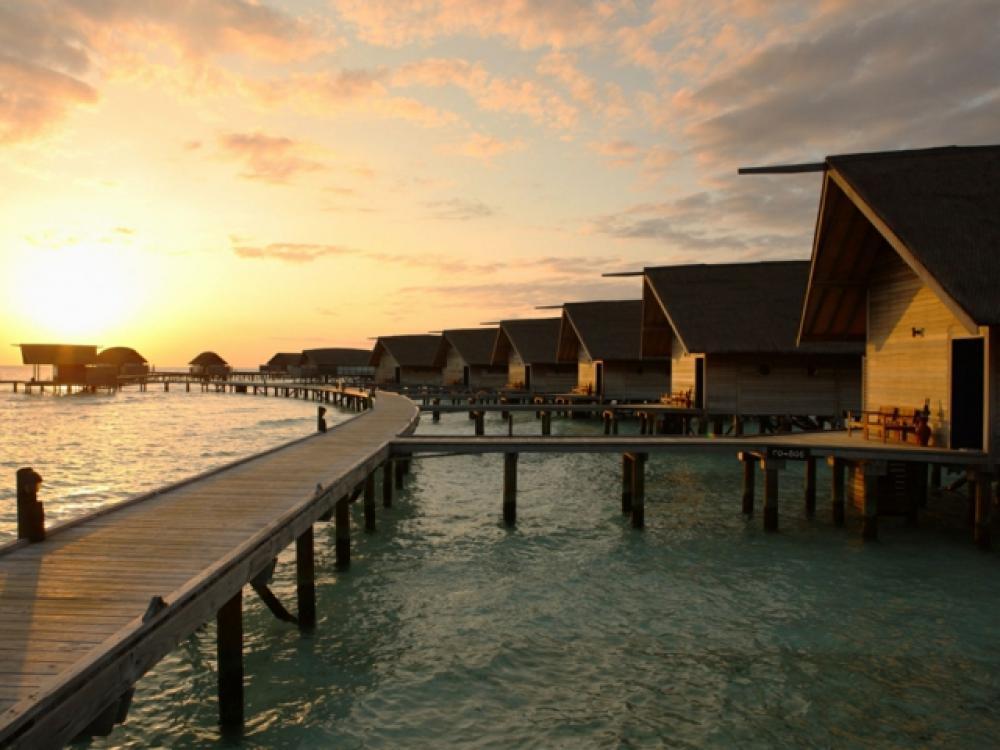 Endroit paradisiaque aux Maldives