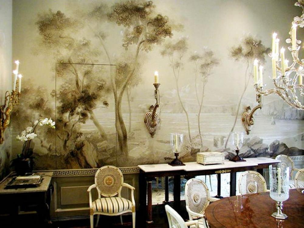 Papier peint féerique pour un salon de style
