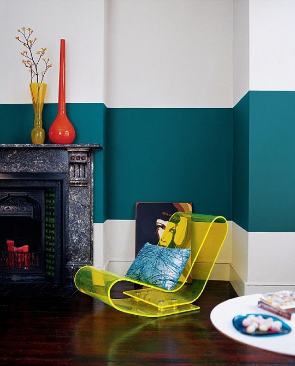 peinture murale pour une ambiance d int rieur gaie. Black Bedroom Furniture Sets. Home Design Ideas