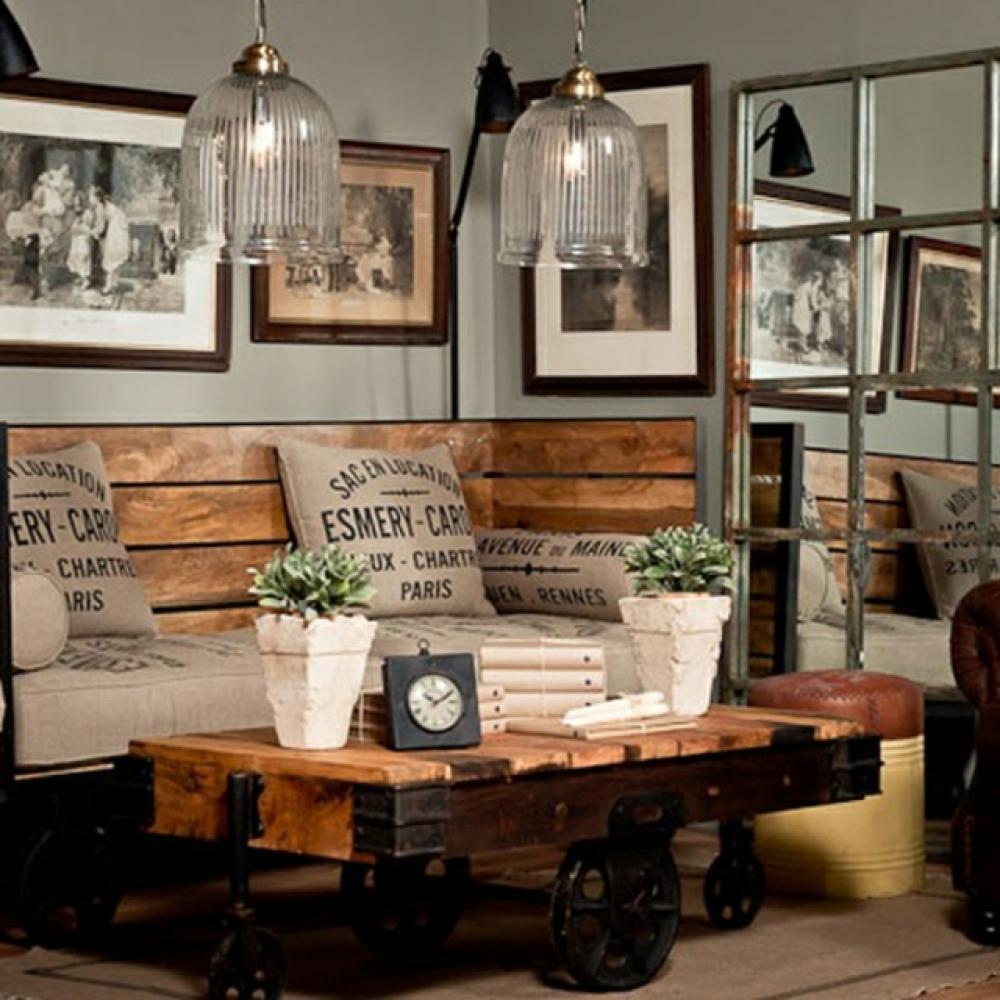 Meuble Salon Style Industriel. Elegant Meuble En Chne Et Acier ...