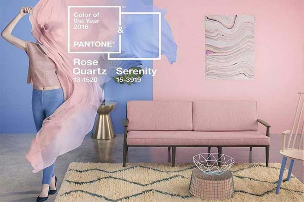 mariage des couleurs de l'années par Pantone
