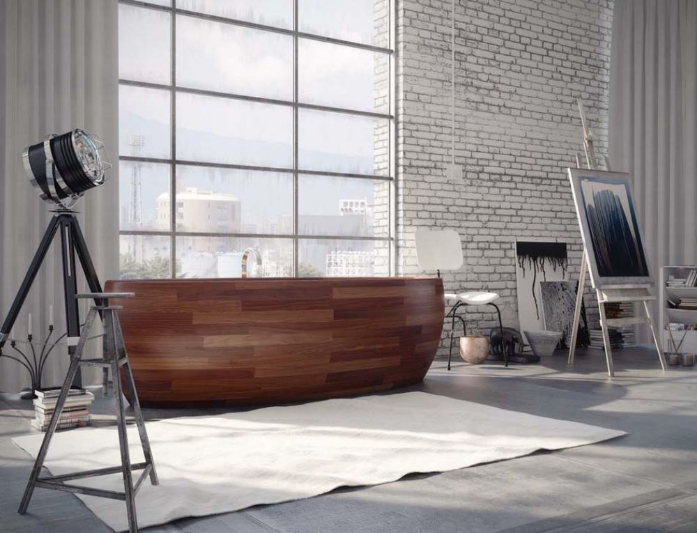 Maison design design feria for Salle de bain moderne bois