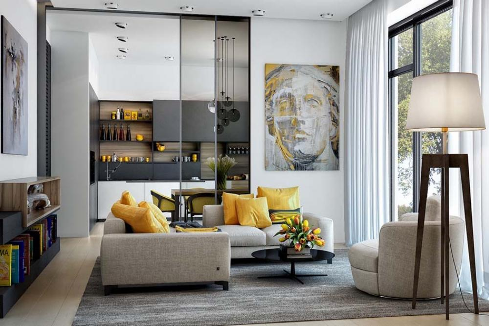 Good Idee Deco Interieur Appartement  Ides Dco En Jaune Sjour