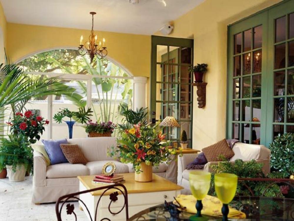 salon de jardin véranda extension maison design décoration
