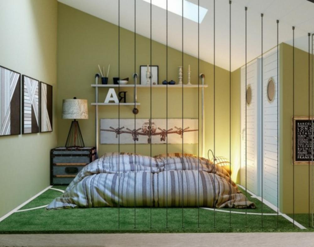 Chambre ado au design d co sympa et original design feria - Deco originale avec des animaux pour linterieur moderne ...