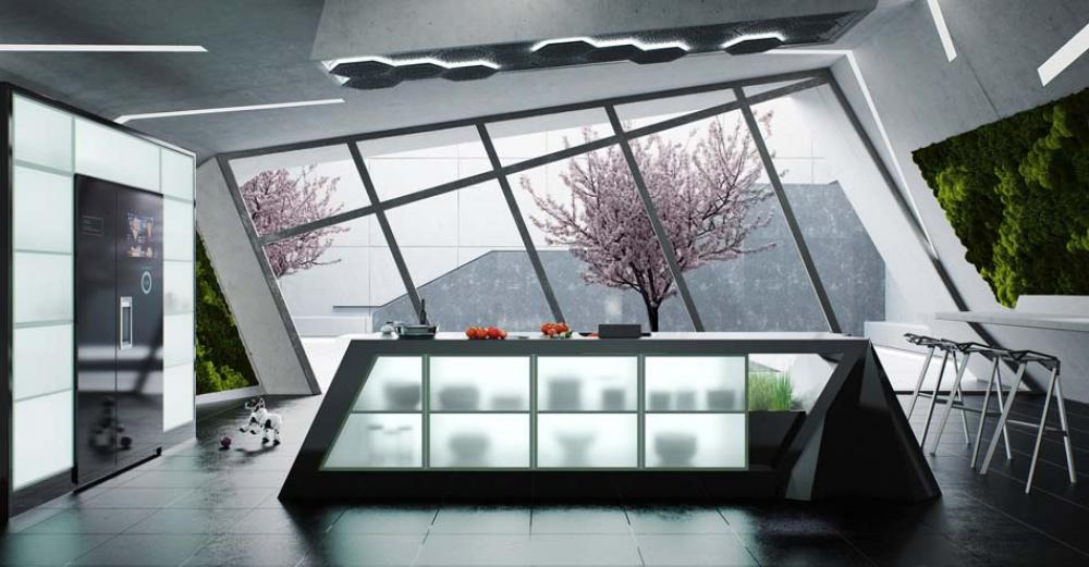 cuisine moderne futuriste design