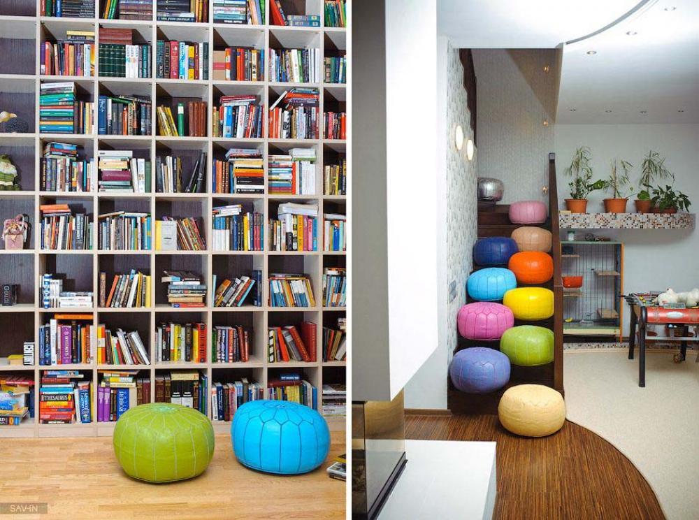 design intérieur déco pouf couleur