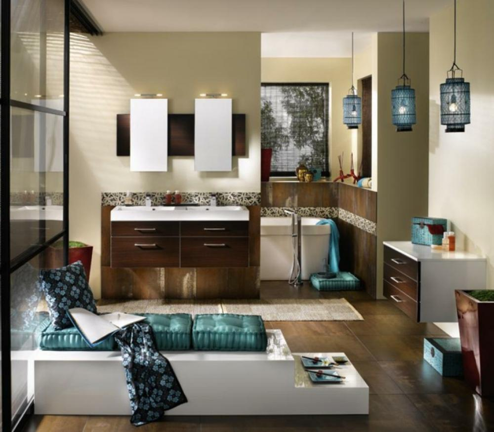 une d co zen pour une salle de bains minimaliste design feria. Black Bedroom Furniture Sets. Home Design Ideas