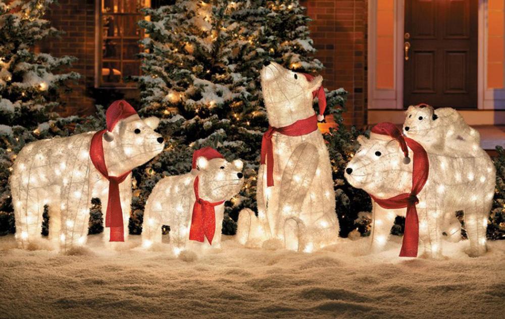 Agreable Déco Pour Lu0027extérieur De La Maison Noël. La Déco LED ...