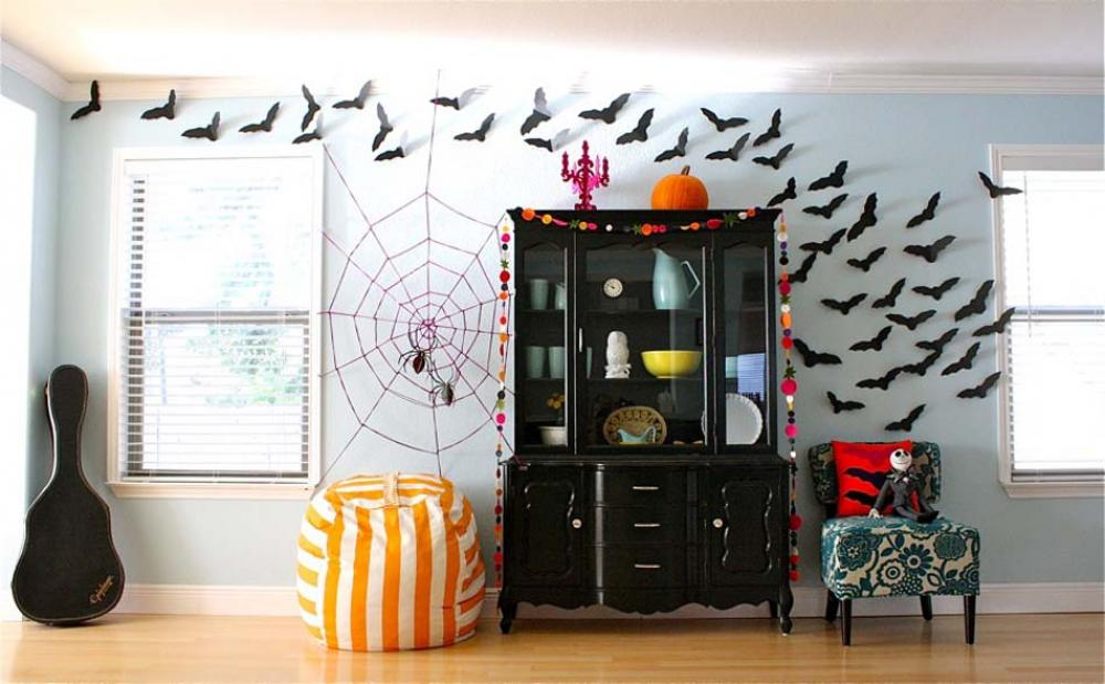 d co halloween afin de se plonger dans l ambiance de cette f te si particuli re design feria. Black Bedroom Furniture Sets. Home Design Ideas