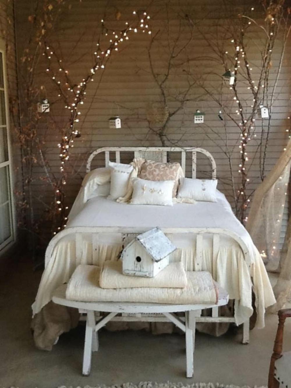 chambre rustique décoration de Noël