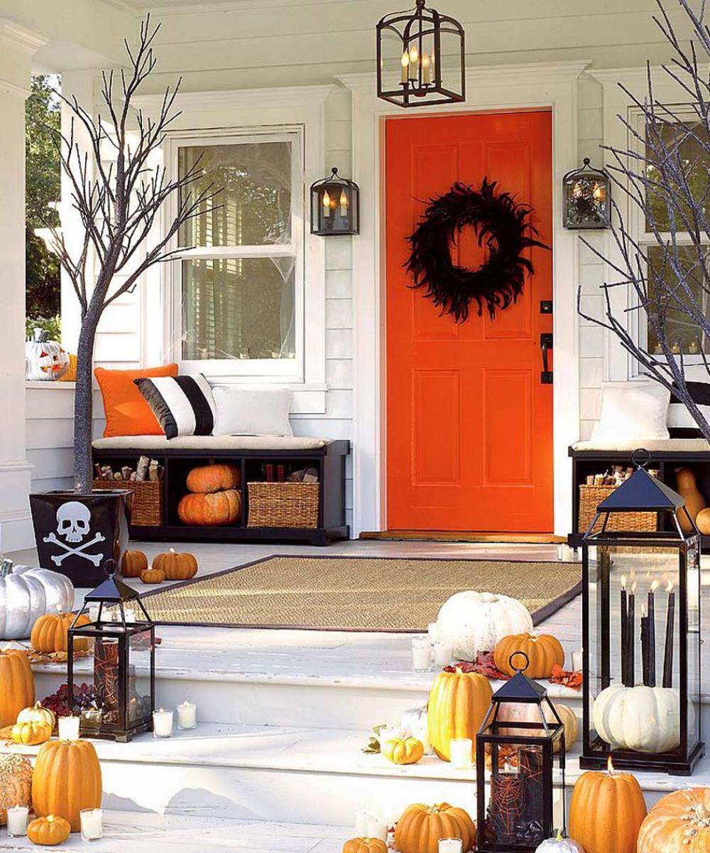 D coration halloween 16 inspirations en images pour - Decoration de porte halloween ...