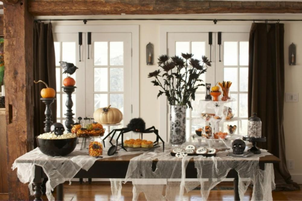 dcoration halloween speciale table gourmande