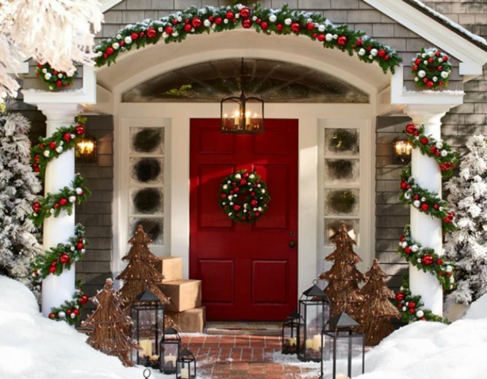 Merveilleux Décoration De Noël Outdoor Porte Jardin