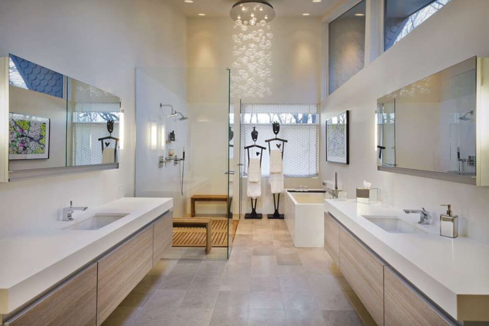 cabine de douche moderne salle de bains luxe maison