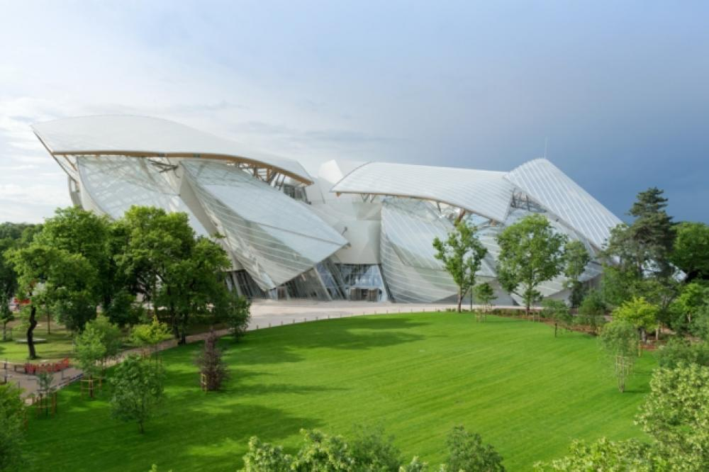 architecture contemporaine moderne fondation Louis Vuitton
