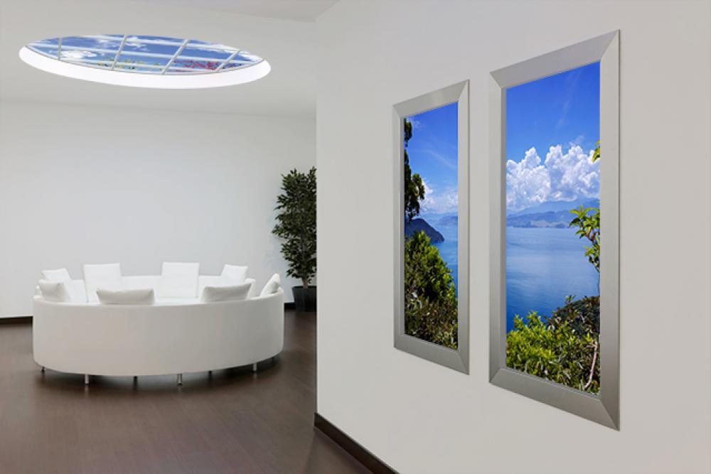 ciel artificiel et fenêtres artificielles idée déco