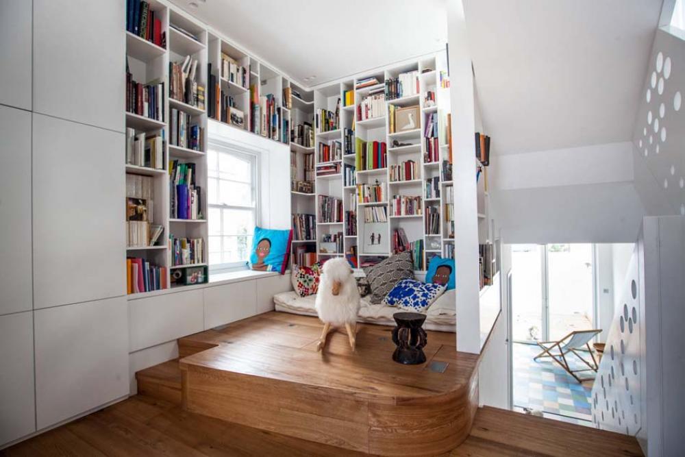 15 exemples pour am nager un agr able et convivial coin lecture la maison design feria. Black Bedroom Furniture Sets. Home Design Ideas