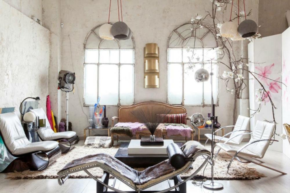 loft industriel au design intérieur artistique