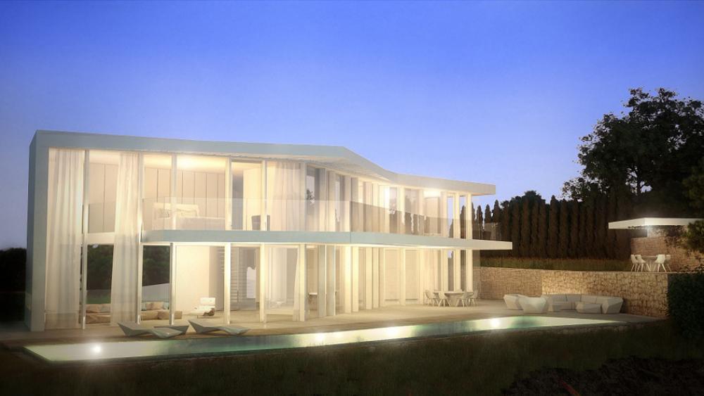 Magnifique maison d architecte sur la c te espagnole for Belle maison moderne architecte