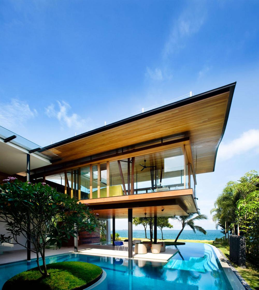 architecture contemporaine maison ouverte luxe